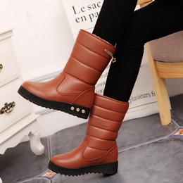 Стильные ботинки онлайн-новые зимние сапоги 2019 Martin с толстой подошвой и средним каблуком стильные и теплые и утолщенные для женщин