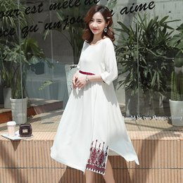 9f4643d89c 572# Vintage Embroidery Cotton Linen Maternity Maxi Long Dress Summer Casual  Clothes for Pregnant Women Loose Pregnancy Clothing