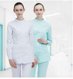 Uniforme de enfermera ropa online-ropa multicolor traje de lavado quirúrgico ropa médica de las mujeres traje de uniforme médico bata de laboratorio médico del hospital de la enfermera de sexo femenino