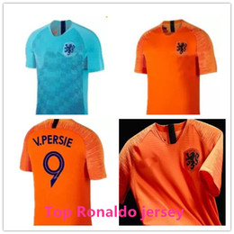 029c73a6d50 World Cup 2018 Nederland soccer jersey home away orange netherlands JERSEY  ROBBEN SNEIJDER 18 19 V.Persie Dutch football shirts AAA quality