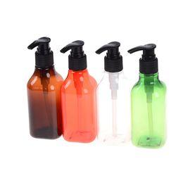 Garrafas de bomba de plástico para shampoo on-line-200 ml de espuma de plástico garrafa de sabonete líquido chicoteado mousse pontos de engarrafamento shampoo loção gel de banho garrafa de espuma reutilizável garrafa