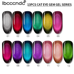 Vernis gel uv online-10 ml del gato 3D gema del ojo de esmalte de uñas de gel magnético empapa del gel del esmalte de uñas semi Vernis permanant gel barniz Lacuqer Gellak