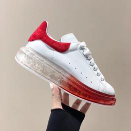 Chaussures en cuir pour hommes semelles rouges en Ligne-Chaussures à semelle compensée Air Clear pour hommes, chaussures en cuir, chaussures de sport, chaussures de sport à lacets Baskets montantes à semelle compensée en cuir
