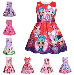 photos de vêtements de baptême Promotion 20 styles filles Lol Dress 3-8Y poupées surprise lol filles s'habillent INS robes de princesse bébé LOL Girls Party Dress Kids Summer Casual Dresses 3