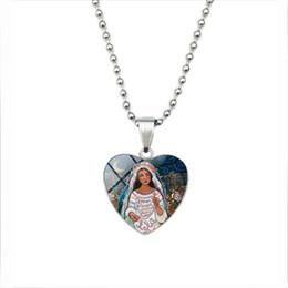Pintura a óleo christ on-line-30 Jesus Cristo Amor Vintage pintura a óleo da Global Mom jóias colar da arte do presente do dia de Colar do amor do coração judaica Tempo Mãe