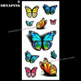 2019 espalda sexy tatuaje SHNAPIGN 3d tatuaje temporal Flash Body Art Back Sticker 1 hoja 19 * 9 cm para Selfie EN71 Tatoo de alta calidad Sexy Butterfly rebajas espalda sexy tatuaje
