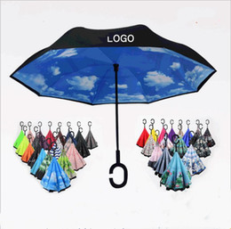 Canada Parapluie inversé C-Crochet coupe-vent Parapluies inversés Parapluie autoportant Pare-brise à manche double et double couche Parapluies coupe-vent LT40 Offre