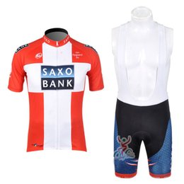 Wholesale SAXO BANK Team Cycling Clothing For Men Jersey de ciclismo de manga corta Ciclismo Bib Shorts sets ropa ciclismo hombre