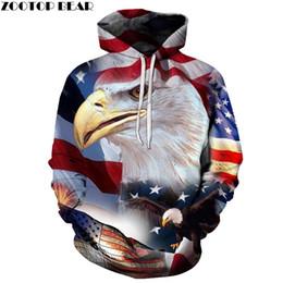 1a6b56a13 adler hoodies Rabatt Adler 3D Gedruckt Männer Hoodies Tier Pullover Marke  Sweatshirts Qaulity Trainingsanzüge USA flagge