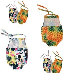 Tek Parça Mayo Ananas Flamingo Sıcak Satış Bebek Kız Bikini Yeni Çocuk Mayo Mayo Mayo Beachwear Tek parça Bikini Hediye nereden