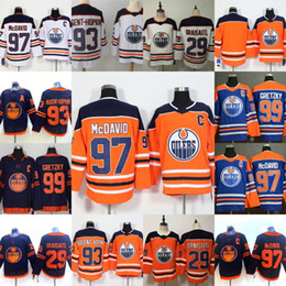 maglia draisaitl leon Sconti Edmonton Oilers 29 Leon Draisaitl 97 Connor McDavid Wayne Gretzky Ryan Nugent-Hopkins Alternate Home Road Hockey Jersey cucito in magazzino