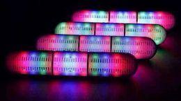 2019 pilule légère haut-parleur bluetooth Nouveau Pulse Pills Led Flash Lighting JHW-V318 Portable Sans Fil Bluetooth Haut-Parleur Bulit-in Mic Haut-Parleur Mains Libres Support FM USB promotion pilule légère haut-parleur bluetooth