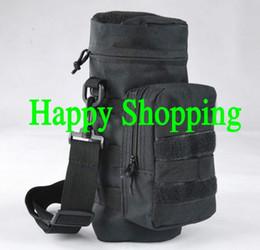 2019 bolsas de botellas de molle Molle Zipper Tactical Water Bottle Pouch Utility Medic Poet Hervidor Paquete Caza Al aire libre Cantina Bolsa de viaje bolsas de botellas de molle baratos