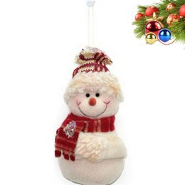 wholesale decorative indoor trees Promo Codes - Creative Snowman Doll Cartoon Kids Gifts Toy Decorative Merry Christmas Tree Ornaments For Party Decorations 14cm 2 5ck E1