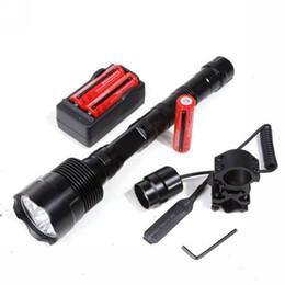 Caricabatteria batterie torcia di fiducia online-Lanterna torcia tattica a LED XML 3xT6 3T6 all'ingrosso-potente 5 modalità torcia + batteria 18650 + caricabatterie + interruttore a distanza + supporto per pistola Spedizione gratuita