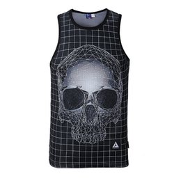 Summer Tank Tops 3D Imprimir Skull Dog Gun Diseñador Chaleco de Malla Transpirable Camisa Básica Culturismo Fitness Hombres Mujeres Bajo la Camiseta # 354164 desde fabricantes