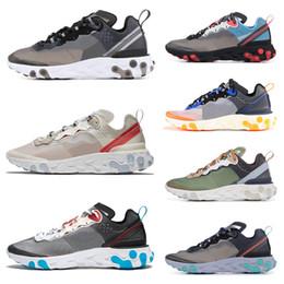 designer fashion ab9de 75a74 Nike Air Max 87 Airmax 87 Scarpe da corsa Epic React Element 87 per uomo  donna bianco nero NEPTUNE GREEN blu scarpe da ginnastica progettista uomo  sportivo ...