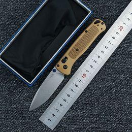 2019 meilleurs couteaux flipper BM 535 manche de couteau pliant en aluminium chasse au camp de survie EDC outil Couteau de poche de fruits en plein air