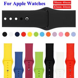 резиновые браслеты Скидка Мода спорт силиконовые резинки ремни для apple watch браслет ремни резинки 38 мм 42 мм красочные мягкие наручные браслеты