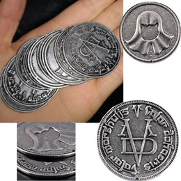 Monete di troni di gioco online-Game of Thrones Cosplay Coin Valar Morghulis Uomo anonimo Iron Coin