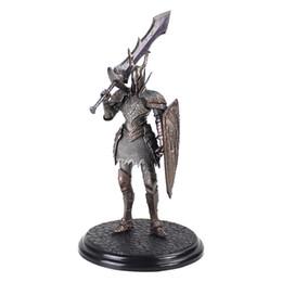 21 cm Jogo Dark Souls 2 Guerreiro Cavaleiro Negro Grande Escudo Espada Top Jogos PVC Ation Figura Modelo Brinquedos Colecionáveis de Fornecedores de marcação a laser