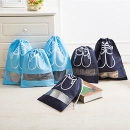 2pcs / set Borsa da viaggio con coulisse Borsa da viaggio per donna Scarpe Calzature Intimo Sock Storage Organizer Proteggi Storage Pack Accessori da tavolo cheap drew shoes da disegnava scarpe fornitori
