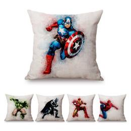 2019 super-heróis travesseiro Super Heroes Aquarela Respingo Arte Hulk Room Decor Capa de Almofada Home Decorativa Sofá Lance Fronha desconto super-heróis travesseiro