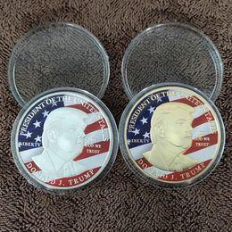 giocattoli di bilanciamento del metallo Sconti 45 ° Donald Trump Silver Eagle Coin Commemorative Coin Make America GREAT Again 45th President dhl ship