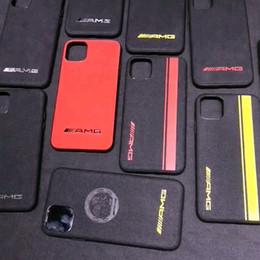 Custodia Fur AMG Motorsport per iPhone 11 Pro Max XS Max XR X 8 7 6 6S Plus Note10 Plus S10 S10E da bordatura in plastica nera fornitori
