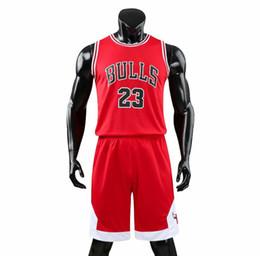 Herren-shorts rote hosen online-Fashion Red Mens Basketball-Trikots ärmellos Top-T-Shirt mit kurzen Hosen Hosenanzug Kit Mens College Basketball Jersey Sets Studenten Teamkleidung