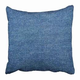 2019 denimkissen Kissenbezüge blau Leinwand Denim Nahaufnahme Farbe Cotton Garment Indigo-Kissen-Kasten-Abdeckung zwei Seiten drucken Pillowcase rabatt denimkissen
