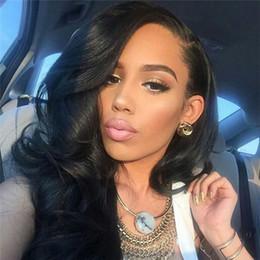 Pelucas brasileñas en forma de u online-Sin procesar Virgen brasileña Onda del cuerpo Cabello humano U pelucas parte Remy Upart peluca Lado en forma de U peluca para las mujeres negras