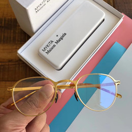 2019 gafas mykita Gafas Mykita GUNNAR montura de lentes transparentes montura de gafas de lujo gafas de grau para hombres y mujeres miopía monturas de gafas con estuche gafas mykita baratos