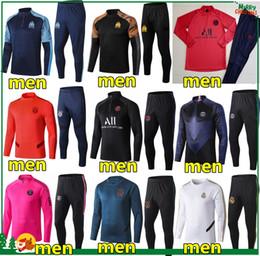 Тренировочные костюмы для бега трусцой онлайн-Франция Brasil Спортивный костюм 2018 2019 футбольная куртка jogging P.COUTINHO QUARESMA MARCELO MBAPPE GRIEZMANN футбол Тренировочный костюм