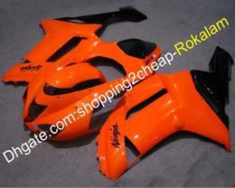2019 pièces kawasaki zx6r Orange Noir ZX 6R 2007 2008 Carénage de Kawasaki ZX-6R ZX 636 ZX6R 07 08 Pièces de capot de carrosserie moto (moulage par injection) pièces kawasaki zx6r pas cher