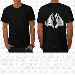 Mano del mouse online-Maniche corte Mickey Mani Gun Donald mouse nero del Mens Tops Moda girocollo T-shirt Taglia S M L XL 2XL 3XL
