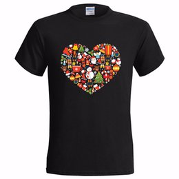 heart shirt designs Promo Codes - XMAS ICONS HEART DESIGN MENS T SHIRT PRESENT SANTA CHRISTMAS GIFT SECRET LOVE harajuku Summer 2018 tshirt