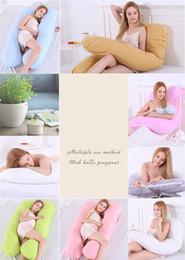 Almohadas de cuerpo fresco online-Mujeres embarazadas embarazo almohada cuerpo almohadas largas cuello lindo enfriamiento cervical pierna almohada cuña donut cama almohadas maternidad