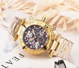 Haifisch rostfrei online-INVICTA Herrenuhren heiße Verkäufe Brasilien US beliebte Luxusmarke Gold Uhren AAA-Qualität Edelstahl invicta wasserdicht Designeruhr