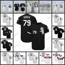 peixes casas Desconto Camisolas personalizadas de Sox branco 79 José Abreu 72 Carlton Fish 21 Todd Frazier 10 Yoan Moncada personalizado Chicago casa longe todos costurados Jersey