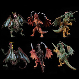 2019 typen spielzeug Dinosaurier Modell Spielzeug Slush-moulding Baumwolle Füllung Quietschend 6 Arten Action Figure Jurassic World Park Realistische Dinosaurier Figuren Spielzeug Für Kinder rabatt typen spielzeug