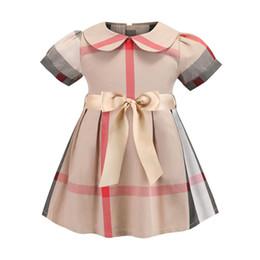 lolita jumper rock Rabatt 2018 hohe qualität kid cute plaid röcke neck kleider speziell entworfen mädchen jumper röcke baumwolle atmungsaktiv kinder casual dress