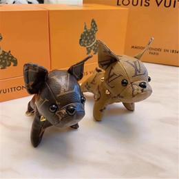 2019 design del marchio originale Super Cute Puppy Keychain Bag Ciondolo Car Portachiavi Decorazione Bagagli Parti di borse accessori Regali spedizione gratuita da