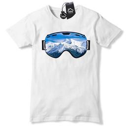 Ver presente on-line-Óculos de Esqui Mountain View T Shirt Das Mulheres Dos Homens de Esqui Top Snowboard Presente 488 moletom com capuz hip hop t-shirt