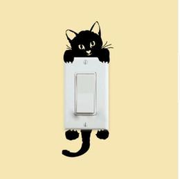 DIY Little Cat interruptor de luz etiqueta de la pared etiqueta calcomanía decoración del hogar desde fabricantes