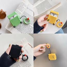 Creative valise carrée avec bracelet en silicone couverture écouteurs pour apple airpods anti-chute douce ? partir de fabricateur