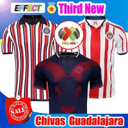 weltclub cup Rabatt New 2018 Chivas de Guadalajara Dritte Trikots Weltmeisterschaft Fußball Trikots Long Sleeve Kit 110 Jahr 2019 MEXICO Club A.PULIDO Fußball-Shirts