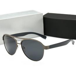 2019 gafas aviador para hombre Calidad Moda Vintage Conducción Gafas de sol Aviadores Hombres Deportes Diseñador Lujo Famoso Hombres Gafas de sol Doble puente Gafas de metal con caja-5 rebajas gafas aviador para hombre