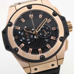 Proveedor de la fábrica relojes de PP de gran tamaño oro rey poder reloj de cuarzo cronógrafo cronómetro reloj vestido de hombre relojes de pulsera desde fabricantes