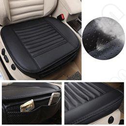 2019 travesseiros para animais de alta qualidade 1pcs assento carro preto sem encosto PU Bamboo Charcoal carro almofada do assento Automobiles proteção antiderrapante tampa de assento